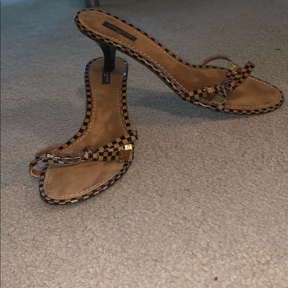 gold louis vuitton heels